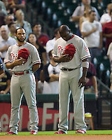 Feliz and Howard 5479.jpg Philadelphia Phillies at Houston Astros. Major League Baseball. September 6th, 2009 at Minute Maid Park in Houston, Texas. Photo by Andrew Woolley.