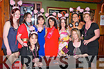 Bride to Be : Bride toi be, Aishling Beasley on her hen night with her family & friends at Tanker's Bar, Listowel on Saturday night last. Front : Liz Barry & Sinead Buckley. Back : Jenny Brosnan, Mags Molyneaux, Susan Brennan, Aishling Beasley, Jean Beasley, Jolene Templeton & Kay Barry.