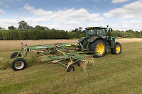 17.7.2020 Contractors turning grass for hay<br />  ©Tim Scrivener Photographer 07850 303986<br />      ....Covering Agriculture In The UK.