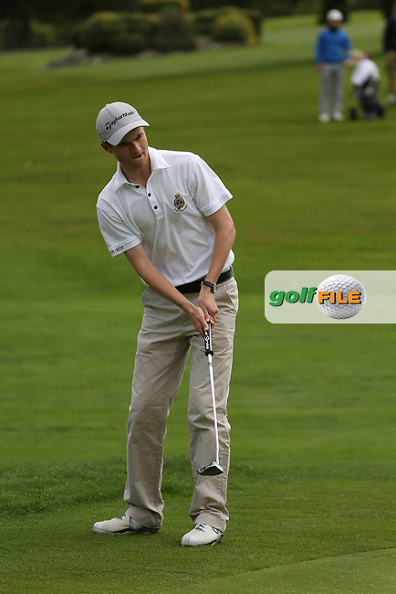 Peter Kerr (Royal Portrush) pictured on the 18th during the final round of the Munster Boys Open Championship, Mallow Golf Club, Mallow, Co. Cork<br /> Picture: Golffile | Niall O'Shea