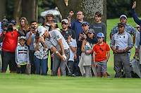 Dustin Johnson (USA) chips up tight on 15 during round 3 of the World Golf Championships, Mexico, Club De Golf Chapultepec, Mexico City, Mexico. 2/23/2019.<br /> Picture: Golffile | Ken Murray<br /> <br /> <br /> All photo usage must carry mandatory copyright credit (© Golffile | Ken Murray)