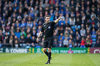 Referee Dean Whitestone during the Sky Bet League 2 match between Portsmouth and Wycombe Wanderers at Fratton Park, Portsmouth, England on 23 April 2016. Photo by Andy Rowland.