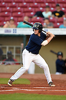Cedar Rapids Kernels outfielder Alex Swim (41) at bat during a game against the Quad Cities River Bandits on August 18, 2014 at Perfect Game Field at Veterans Memorial Stadium in Cedar Rapids, Iowa.  Cedar Rapids defeated Quad Cities 4-2.  (Mike Janes/Four Seam Images)