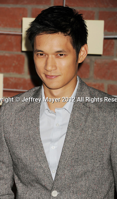 =Culver City=, CA - SEPTEMBER 10: Harry Shum Jr. arrives at the FOX Fall Eco-Casino Party at The Bookbindery on September 10, 2012 in Culver City, California.