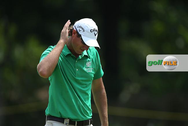 Nicolas Colsaerts (BEL) stuck on -9 during Round Three of the 2014 Maybank Malaysian Open at the Kuala Lumpur Golf & Country Club, Kuala Lumpur, Malaysia. Picture:  David Lloyd / www.golffile.ie