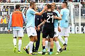 September 10th 2017, Olimpic Stadium, Rome, Italy; Serie A football league, Lazio versus AC Milan;   Lucas Biglia says hello to Lazio players