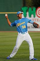 Myrtle Beach Pelicans pitcher Daury Torrez (38) before a game against the Wilmington Blue Rocks at Ticketreturn.com Field at Pelicans Ballpark on April 10, 2015 in Myrtle Beach, South Carolina.  Wilmington defeated Myrtle Beach 8-3. (Robert Gurganus/Four Seam Images)