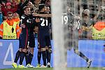 Atletico de Madrid's players celebrate goal during Champions League 2015/2016 match. April 5,2016. (ALTERPHOTOS/Acero)