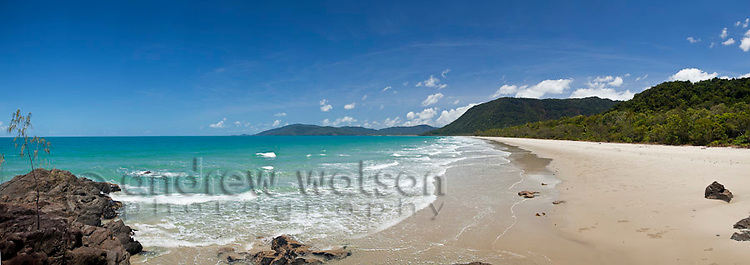 View along Noah Beach.  Daintree National Park, Queensland, Australia