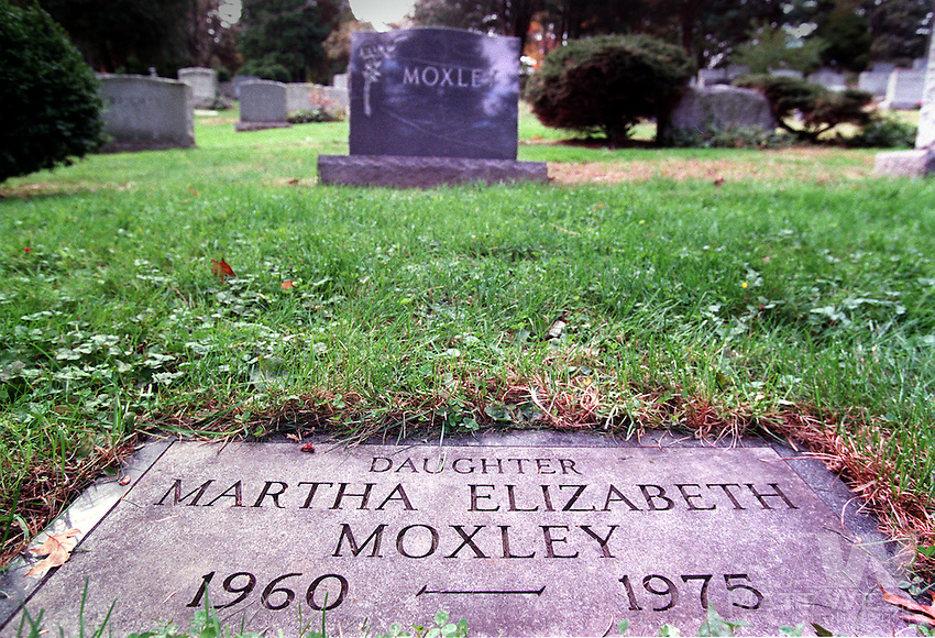 Martha Moxley's grave at Putnam Cemetery in Greenwitch, CT. Photo by Matt West