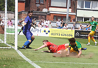 Preston North End's Sean Maguire scores his sides third goal <br /> <br /> Photographer Mick Walker/CameraSport<br /> <br /> Pre-Season Friendly -Bamber Bridge v Preston North End  - Saturday 7th July  2018 - Irongate Stadium,Bamber Bridge<br /> <br /> World Copyright &copy; 2018 CameraSport. All rights reserved. 43 Linden Ave. Countesthorpe. Leicester. England. LE8 5PG - Tel: +44 (0) 116 277 4147 - admin@camerasport.com - www.camerasport.com