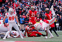 Ohio State Buckeyes quarterback Dwayne Haskins Jr. (7) scores a touchdown on a run against Maryland Terrapins during the 3rd quarter of their game at Capital One Field at Maryland Stadium in College Park, Maryland on November 17, 2018. [Kyle Robertson/Dispatch]