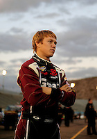 Nov. 13, 2009; Avondale, AZ, USA; NASCAR Camping World Truck Series driver Brad Sweet during the Lucas Oil 150 at Phoenix International Raceway. Mandatory Credit: Mark J. Rebilas-
