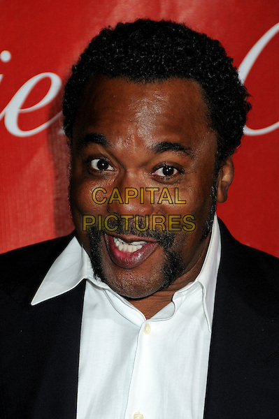 LEE DANIELS .Palm Springs International Film Festival Awards Gala 2010 held at the Palm Springs Convention Center, Palm Springs, California, USA, .5th January 2010..portrait headshot black handlebar moustache mustache  facial hair white shirt funny mouth open .CAP/ADM/BP.©Byron Purvis/AdMedia/Capital Pictures.
