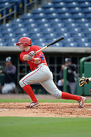 Philadelphia Phillies designated hitter Rhys Hoskins (17) during Instructional League game against the New York Yankees on September 23, 2014 at the Bright House Field in Clearwater, Florida.  (Mike Janes/Four Seam Images)