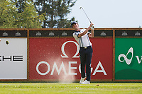 Renato Paratore (ITA) in action on the 16th hole during third round at the Omega European Masters, Golf Club Crans-sur-Sierre, Crans-Montana, Valais, Switzerland. 31/08/19.<br /> Picture Stefano DiMaria / Golffile.ie<br /> <br /> All photo usage must carry mandatory copyright credit (© Golffile | Stefano DiMaria)