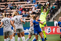 Seattle, WA - Sunday, August 13, 2017: Katelyn Rowland during a regular season National Women's Soccer League (NWSL) match between the Seattle Reign FC and the North Carolina Courage at Memorial Stadium.