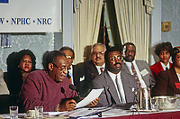 Washington, DC., USA, January 7, 1994<br /> Bill Cosby at Rainbow Coalition conference on violence. Credit: Mark Reinstein/MediaPunch