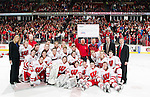Wisconsin Badgers after a WCHA Conference NCAA college women's hockey game against the Bemidji State Beavers on January 28, 2012 in Madison, Wisconsin. The Badgers won 1-0. (Photo by David Stluka)