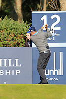 Padraig Harrington (IRL) on the 12th tee during Round 2 of the 2015 Alfred Dunhill Links Championship at Kingsbarns in Scotland on 2/10/15.<br /> Picture: Thos Caffrey | Golffile