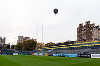 A general view of a Novia Financial hot air baloon over the Recreation Ground. Gallagher Premiership match, between Bath Rugby and Exeter Chiefs on October 5, 2018 at the Recreation Ground in Bath, England. Photo by: Patrick Khachfe / Onside Images