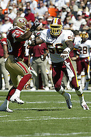 LaVar Arrington In an NFL game played at 3-Comm Park where the 49ers beat the Redskins 20-10.