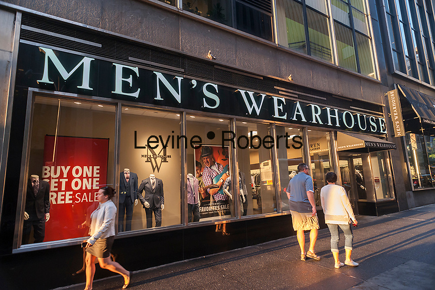 A Men's Wearhouse clothing store is seen in New York on Tuesday, June 16, 2015. (©  Richard B. Levine)