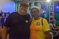 RIO DE JANEIRO, RJ, 28.07.2018 - LULA-LIVRE - Tarcísio Motta e Ivanete Silva durante Festival Lula Livre na Lapa, centro do Rio de Janeiro neste sábado, 28. (Foto: Clever Felix/Brazil Photo Press)