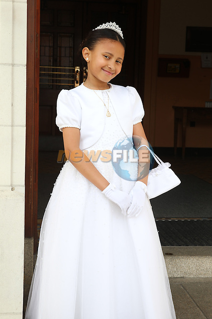 Jade Feeney pictured on her First Communion day.