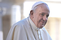 Pope Francis during of a weekly general audience at St Peter's square in Vatican, Wednesday.October 16, 2019