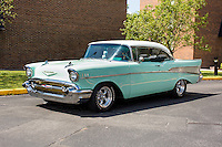1957 Cruiser Class (#59C) – 1957 Chevrolet Bel Air 2-Door Hardtop registered to Russell Ross is pictured during 4th State Representative Chevy Show on Friday, July 1, 2016, in Fort Wayne, Indiana. (Photo by James Brosher)