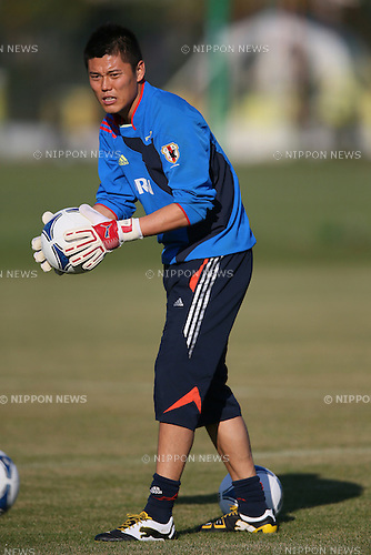 Eiji Kawashima (JPN), .OCTOBER 14, 2012 - Football /Soccer : .Japan national team training .at Akademia Wychowania Fizycznego We Wroclawiu, .Wroclaw, Poland. .(Photo by YUTAKA/AFLO SPORT) [1040]