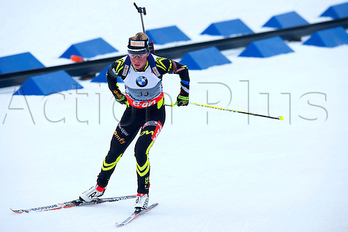 22.03.2014  Oslo, Norway The E.ON IBU World Cup Biathlon 2014  Marie Dorin Habert of France in action during the ladies 10 kilometre  pursuit at The EON IBU World Cup Biathlon Final from Holmenkollen in Oslo, Norway.