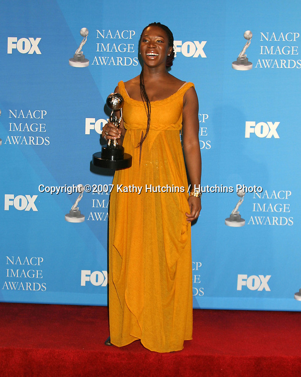 India.Arie.NAACP Image Awards.Shrine Auditorium.Los Angeles, CA.March 2, 2007.©2007 Kathy Hutchins / Hutchins Photo...