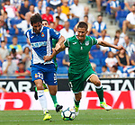 Granero (L) and Szymanwski (R) in action during La Liga Game between RCD Espanyol agaisnt Leganes at RCDE Stadium
