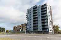 BNPS.co.uk (01202 558833)<br /> Pic: Graham Hunt/BNPS<br /> <br /> View of the flats which have balcony views of Holes Bay.<br /> <br /> Are these Britain's most sought-after council flats ...<br /> <br /> A brand new block of council flats have been unveiled that come with stunning sea views homeowners pay a premium for.<br /> <br /> Nile Court is a development of one and two bedroom apartments overlooking Poole Harbour in Dorset, one of the most exclusive locations for property in the country.<br /> <br /> The flats have private balconies from which breathtaking sunset views over water can be enjoyed.<br /> <br /> Thirty out of the 46 flats in the nine storey building are only available to tenants registered for council accommodation, with monthly rents of around £270.