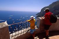 Italien, Capri, Blick von Belvedere Punta Cannone auf Marina Piccola