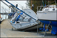 Sailor crushed by his own boat.