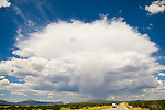 Summer thunderstorm over Ely, Nevada, south of Murray Pass on U.S. 6.