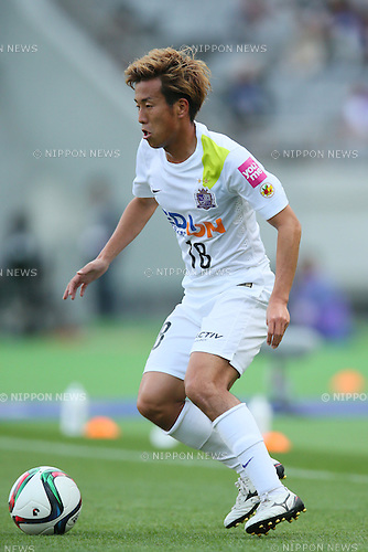 Yoshifumi Kashiwa (Sanfrecce), <br /> APRIL 18, 2015 - Football /Soccer : <br /> 2015 J1 League 1st stage match <br /> between F.C. Tokyo 1-2 Sanfrecce Hiroshima <br /> at Ajinomoto Stadium, Tokyo, Japan. <br /> (Photo by YUTAKA/AFLO SPORT) [1040]