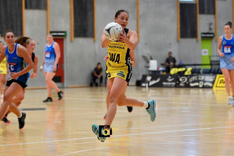 Pulse' Whitney Souness in action during the Pre Season Tournament - Pulse v Mystics at Ngā  Purapura, Otaki, New Zealand on Saturday 9 February  2019. <br /> Photo by Masanori Udagawa. <br /> www.photowellington.photoshelter.com