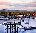 Another Perfect Autumn Day Draws To A Close At Southwest Harbor On Mount Desert Island, Acadia National Park, Maine, USA