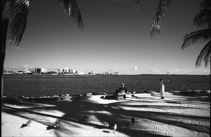 "Bayfront Park<br /> From ""Miami in Black and White"" series<br /> Downtown Miami, Jan 2011"