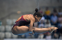 Canada's Jennifer Abel competes in the 3m Springboard <br /> <br /> Photographer Hannah Fountain/CameraSport<br /> <br /> FINA/CNSG Diving World Series 2019 - Day 3 - Sunday 19th May 2019 - London Aquatics Centre - Queen Elizabeth Olympic Park - London<br /> <br /> World Copyright © 2019 CameraSport. All rights reserved. 43 Linden Ave. Countesthorpe. Leicester. England. LE8 5PG - Tel: +44 (0) 116 277 4147 - admin@camerasport.com - www.camerasport.com