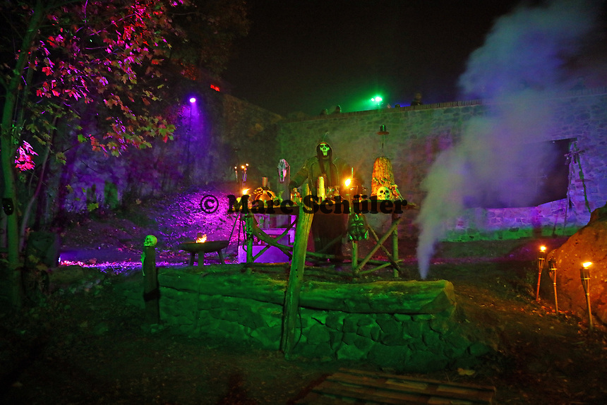 Alchemisten-Show im Burggraben - Mühltal 03.11.2018: Halloween auf der Burg Frankenstein