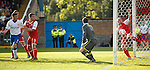 Mark McCulloch clears on the line to deny Rangers
