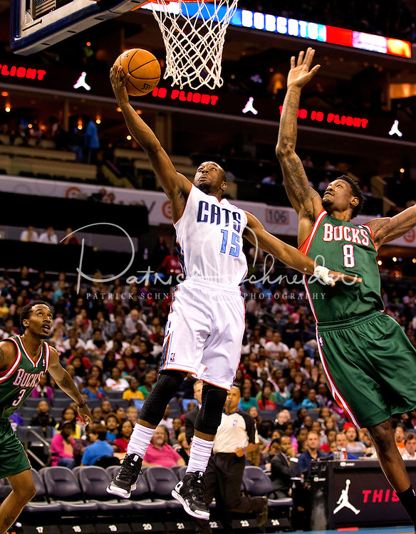 The Charlotte Bobcats vs. The Milwaukee Bucks at Time Warner Cable Arena in Charlotte, NC...Photo by: PatrickSchneiderPhoto.com