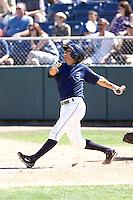 July 18, 2010: Everett AquaSox's Terry Serrano (2) at bat during a Northwest League game against the Eugene Emeralds at Everett Memorial Stadium in Everett, Washington.