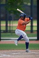 Houston Astros Enmanuel Valdez (66) bats during a Minor League Spring Training Intrasquad game on March 28, 2019 at the FITTEAM Ballpark of the Palm Beaches in West Palm Beach, Florida.  (Mike Janes/Four Seam Images)