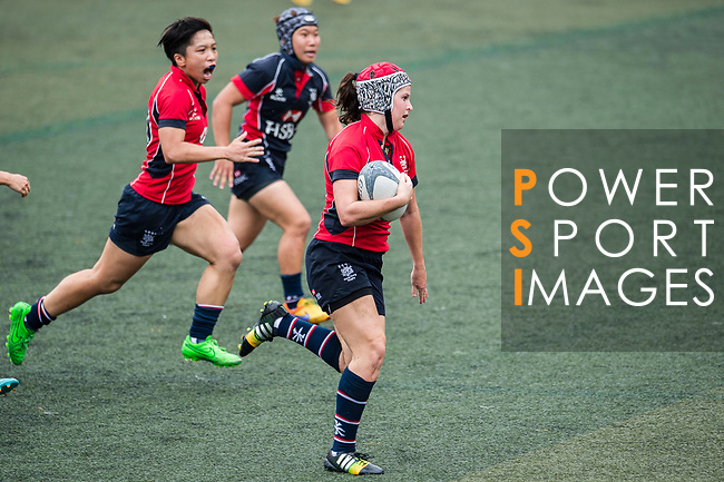 Rebecca Thompson of Lions (R) in action during the Women's National Super Series 2017 on 13 May 2017, in Hong Kong Football Club, Hong Kong, China. Photo by Marcio Rodrigo Machado / Power Sport Images